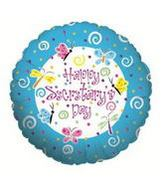 "9"" Airfill Balloon BUTTERFLY & SWIRLS SEC"