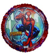 "18"" Licensed Spider Man Red Border Balloon"