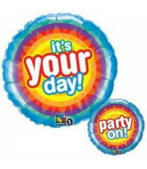 "18"" It&#39s Your Day Party On Balloon"