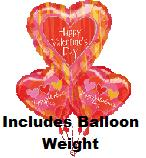 Valentine Pattern Bouquet Of Balloons