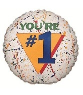 "31"" You're Number One Balloon"