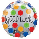 "18"" Good Luck Dots Mylar Balloon"