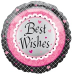 "18"" Best Wishes Boarder Mylar Balloon"