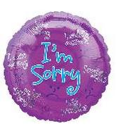"18"" I&#39m Sorry Apologies Purple Spiral"