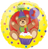 "18"" First Birthday bear Balloon"