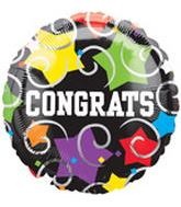 "18"" Congrats Stars and Swirls Balloon"