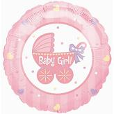 "18"" Baby Girl Buggy Balloon"
