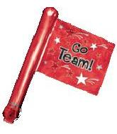 "26"" Red Rally Flag (airfill-self sealing)"