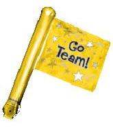 "26"" Gold Rally Flag (airfill-self sealing)"