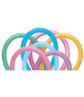 160Q Vibrant Assorted Twisting Animal Balloons