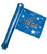 "26"" Blue Rally Flag (airfill-self sealing)"