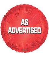 "18"" As Advertised Promotional Balloon"