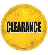 "18"" Clearance Promotion Mylar Balloon"