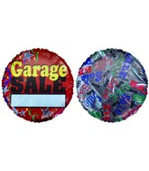 "18"" Garage Sale Add-a-Name Red Foil Balloon"