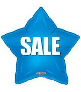 "18"" Sale Blue Star Mylar Balloon"