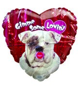 "18"" Gimme Some Lovin&#39 Kiss Balloon (SLIGHT DAMAGE)"
