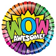 "21"" Mighty Bright Wow Awesome Balloon"