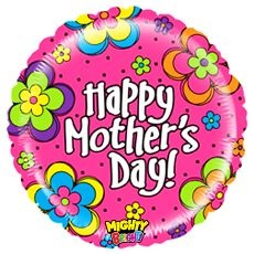 "21"" Mighty Floral Mother Day Balloon"