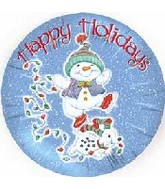 "18"" Happy Holidays Dancing Snowman"