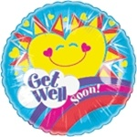 "18"" Get Well Soon Sun Balloon"