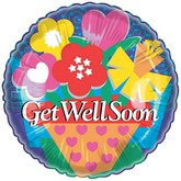 "18"" Get Well Soon Graphic Flowers"