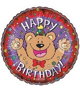 "18"" Happy Birthday Bear Balloons"