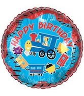 "18"" Happy Birthday Trains Balloon"