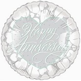 "18"" Happy Anniversary Hearts Border"
