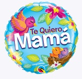 "18"" Te Quiero Mama Nest Balloon Packaged"