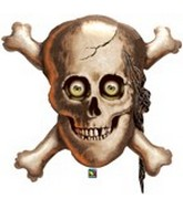 "32"" Skull & Cross Bones Pirates Balloons"