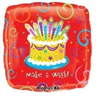 "18"" Make A Wish Birthday Mylar Balloons"