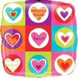 "18"" Love Hearts and Squares"