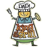 "29"" SuperShape Dad King of the Grill Balloon Packaged"