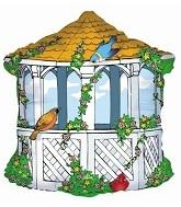 "26"" Bird House Balloon (Sold As Damaged Print)"