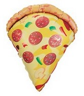 "25"" Mylar Pizza Slice Super Shape Balloon"