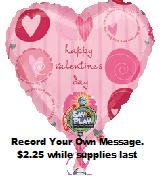"32"" Valentine&#39s Day Recordable"
