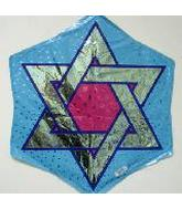 "24"" Star Of David Mylar Balloon"