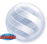 "20"" Swirls All Around Double Plastic Balloon"