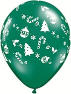 "16"" Christmas Tree Trimmings Latex Balloons (50 CT)"