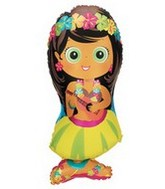 "34"" Luau Hula Girl Super Shape Balloon"
