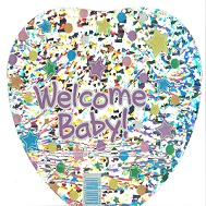 "9"" Airfill Only Welcome Baby Stars Balloon"