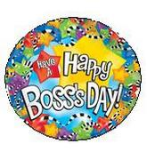 "9"" Airfill Have A Happy Boss&#39s Day Stars M299"