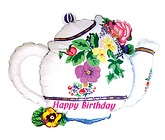 "23"" Birthday Flower Teapot Balloon"