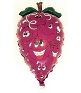 "28"" Purple Grapes Fruit Shaped Balloon"
