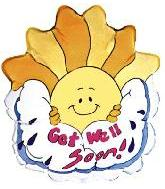 "24"" Get Well Soon Sunshine (Slightly Damaged Print)"
