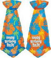"39"" Happy Birthday Dad Tie Shape 5B208"