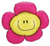 "36"" Smiley Flower Shape Mylar Balloon"