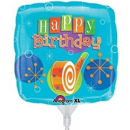 "18"" Blow-out Birthday Mylar Balloons"