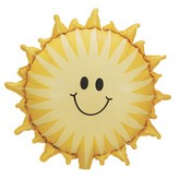 "26"" Smiley Sunshine Mylar Balloon"