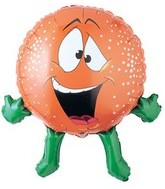 "27""  Orange Fruit Balloon Super Shape"